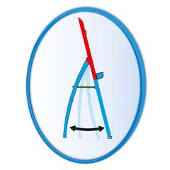 Доска для рисования маркером на трехногах