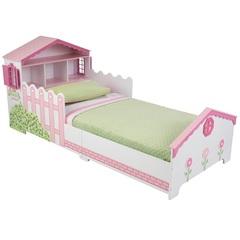 """Детская кровать """"Кукольный домик"""" с полочками"""