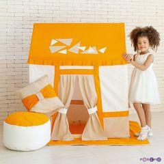 """Текстильный домик-палатка с пуфиком для девочек и мальчиков """"Замок Сомерсет"""""""