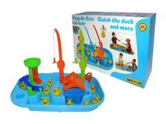 Игра Поймай уточку для 2-х игроков (емкость заполняется водой,мотор в домике создает течение воды,уточки плывут по течению)