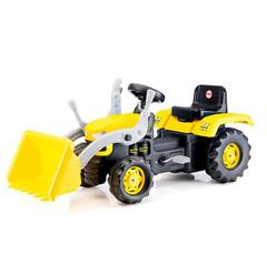 Педальный трактор-экскаватора желто-черный
