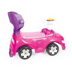 Машинка-каталка 4в1, розовая