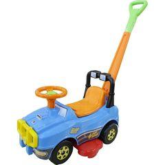 Автомобиль Джип-каталка с ручкой (голубой)