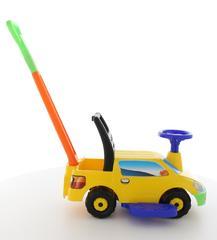 """Автомобиль-каталка """"Пикап"""" с ручкой - №2 (жёлтый)"""