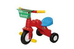 Велосипед 3-х колёсный Малыш с корзинкой (Колеса пластмассовые)