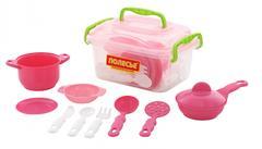 Набор детской посуды (35 элементов) (в контейнере)