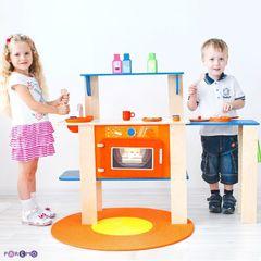 Деревянная кухня-трансформер для детей