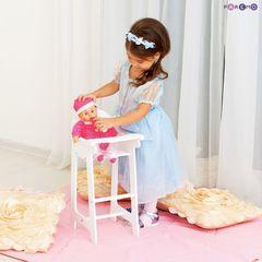 Кукольный стул для кормления, цвет Белый