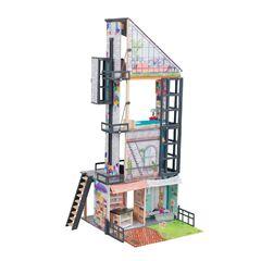 Кукольный дом Бьянка, с мебелью 26 элементов, интерактивный