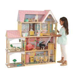 Кукольный домик Особняк Лола, с мебелью 30 элементов, интерактивный