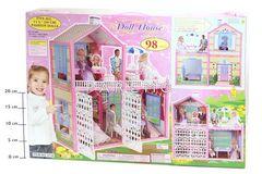 Дом (с откры.воротами) с мебелью 28x11x29,5см, арт.3134