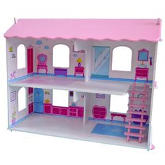 Кукольный дом Виктория с интерьером и мебелью и 5 предметов