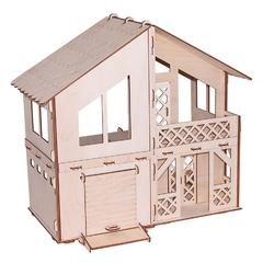 Кукольный домик серия Я дизайнер Дачный домик с гаражом, конструктор