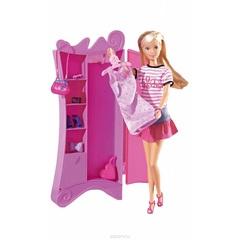 Кукла Штеффи+шкаф с одеждой, 15 аксессуаров