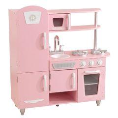 Кухня игровая Винтаж, цвет: розовый с белым