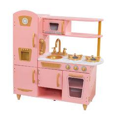 Кухня игровая Винтаж, цвет: розовый с золотом