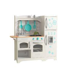 Кухня игровая Загородная, цвет: белый с бирюзовым