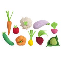 Набор овощей 10 предметов (с карточками)