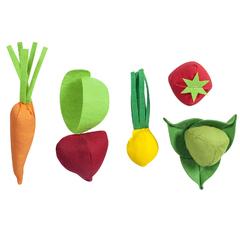 Набор овощей 5 предметов (с карточками)