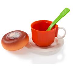 Игрушечный чайный набор с ватрушкой