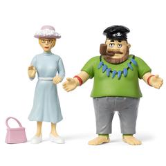 Набор кукол для домика Пеппи Длинный чулок капитан и мисс