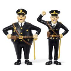 Набор кукол для домика Пеппи Длинный чулок полицейские