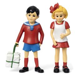 Набор кукол для домика Пеппи Длинный чулок Томми и Анника