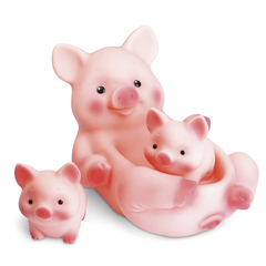 Резиновая игрушка Свинка с поросятами 16 см