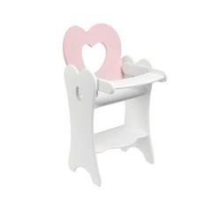 Кукольный стульчик для кормления, цвет: нежно-розовый