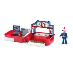Игровой набор пожарная станция с фигуркой пожарного в чемоданчике