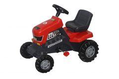 Каталка-трактор с педалями Turbo колеса пластмассовые с резиновой вставкой