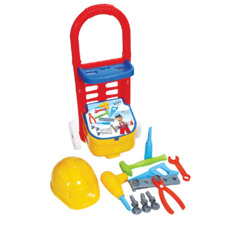 Набор инструментов 14 предметов в тележке