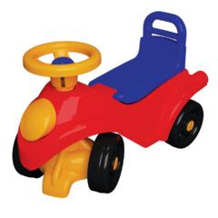Машинка-каталка на 4-х колесах с поворотным рулем