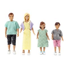 Набор кукол для домика классическая семья