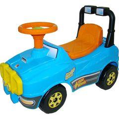 Автомобиль Джип-каталка - №2 (голубой, без звукового сигнала)