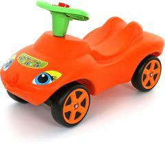 Каталка Мой любимый автомобиль оранжевая со звуковым сигналом