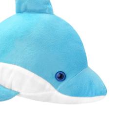 Мягкая игрушка Дельфин голубой, 35 см