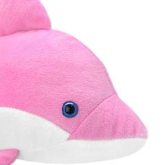 Мягкая игрушка Дельфин розовый, 25 см