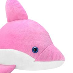 Мягкая игрушка Дельфин розовый, 35 см