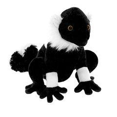Мягкая игрушка Черный лемур, 20 см