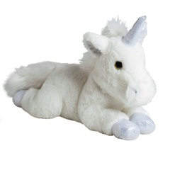 Мягкая игрушка Единорог серебро 35 см