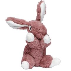Мягкая игрушка Кролик темно-розовый 16 см