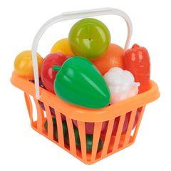 Игровой набор фрукты и овощи в корзинке