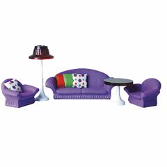 Гостиная Конфетти фиолетовая