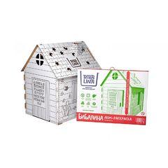Картонный игровой домик-раскраска
