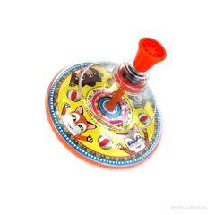 Детская юла Веселые зверята с прозрачным куполом