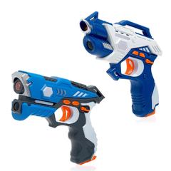 Лазертаг Перестрелка: 2 датчика, 2 пистолета, работает от батареек