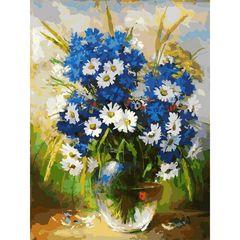 Роспись по холсту Белоснежка Цветы 30*40см. Картина по номерам