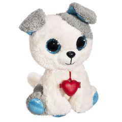 Мягкая игрушка Собачка Глазастик с сердечком