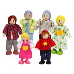 Набор мини-кукол Счастливая семья европейская